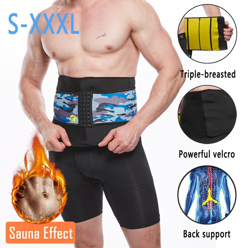 NINGMI Neoprene Waist Trainer Body Shaper for Men Corset Slimming Underwear Girdle Cincher Belt with Phone Pocket Slim Shapewear (11)
