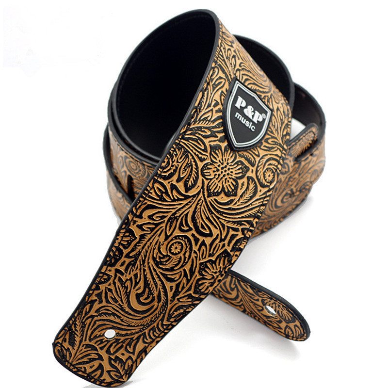 NEW Guitar Parts Widen Electric Guitar Strap Crocodile Snake Skin Embossed PU Leather Acoustic Guitar Belt Bass Strap S511