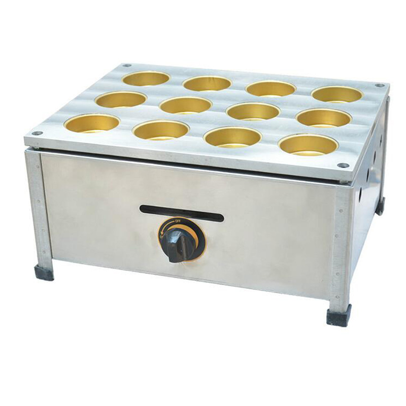 Gas red Bean Cake Machine Commercial Use Non-stick Mini Red Bean Pancakes Maker Machine Egg Burger Stove FY-2230.R commercial use gas triangle wheat cake baker