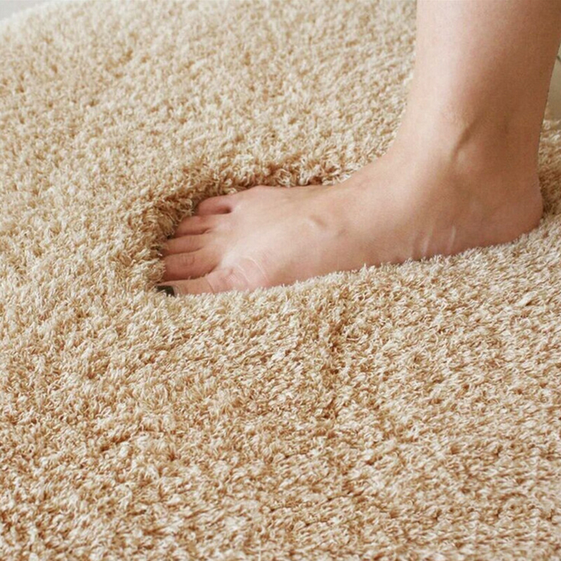 New Fashion Carpet Fluffy Rugs Simple Anti-Skid Shaggy Area Fluffy Round Home Bedroom Carpet Floor Mat