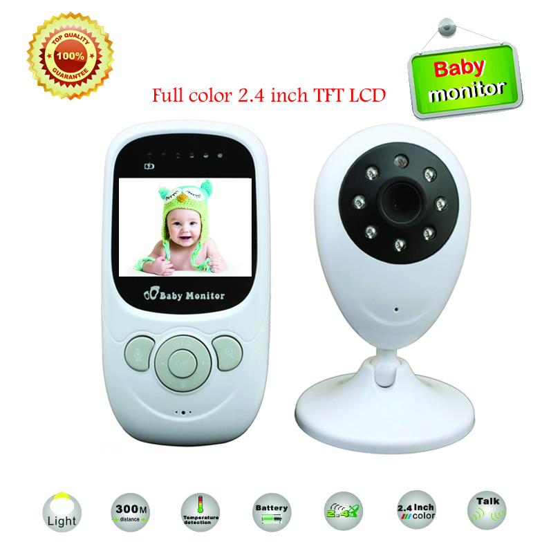 Best 2.4 inch TFT LCD Draadloze digitale video Babyfoon Nachtzicht IR LED Temperatuurbewaking Beveiligingscamera 2 Way Talk