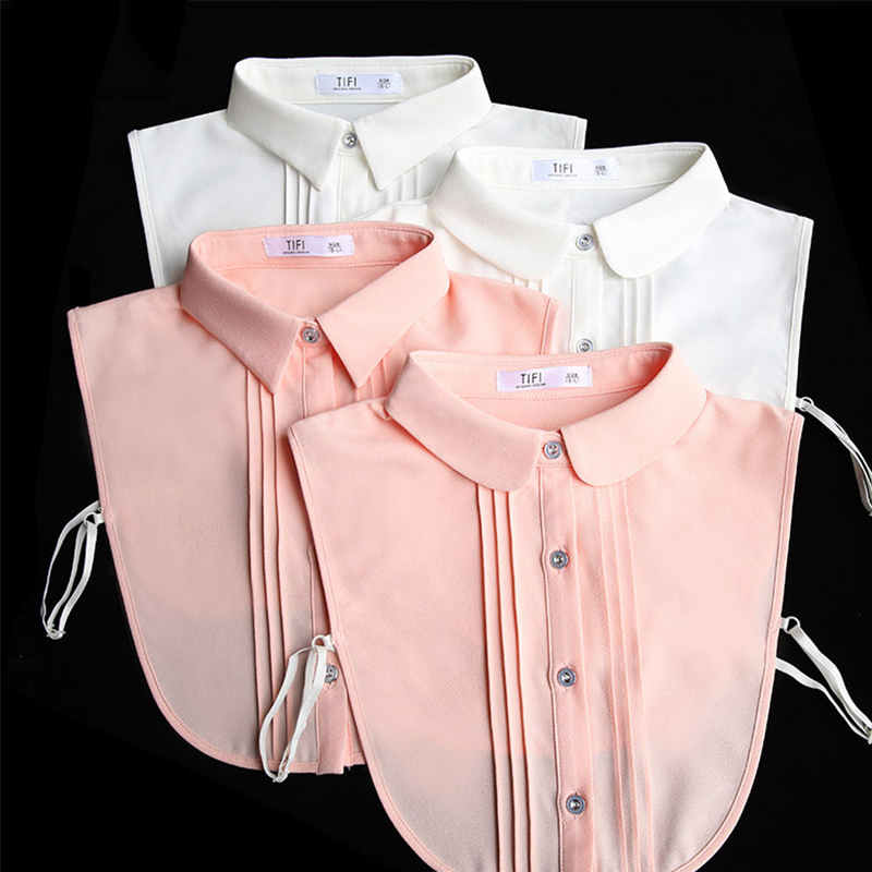 White Women Shirt False Collars Black 2019 Removable Peto Mujer Chemisier Fake Collar Women Detachable Collars Stand Faux Cols