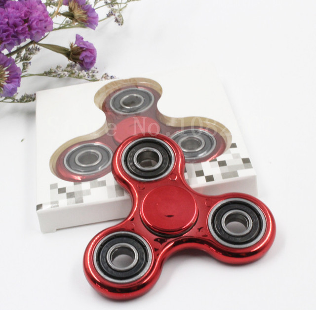 BD,Fingertip Gyro Decompression,Fidget spinner,Hand Spinner fake metal,Colors Triangle EDC Tool,Anxiety Stress Relief,parts,Toys
