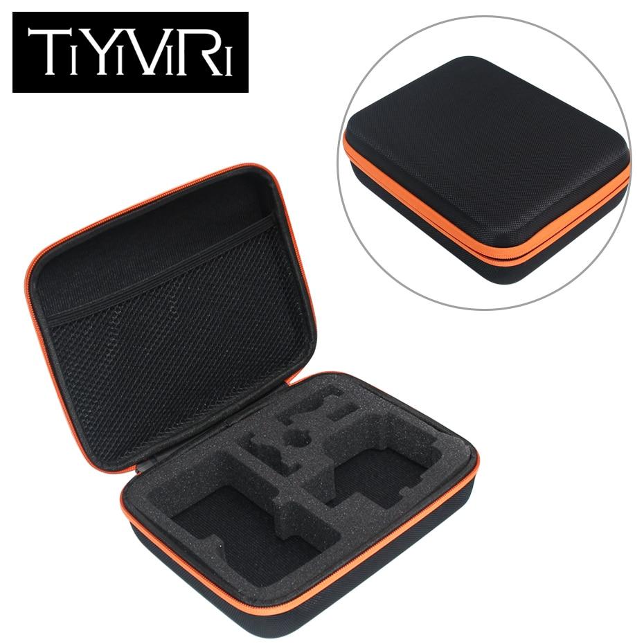 Portable Medium Size Black Camera Bag Anti-shock Storage Case For Xiaomi Yi Gopro Hero 4 Sjcam Sj4000 Action Camera Accessoriess fat cat 13 dual cam anti shock waterproof eva case for gopro hero 4 3 3 2 sj4000 carbon black