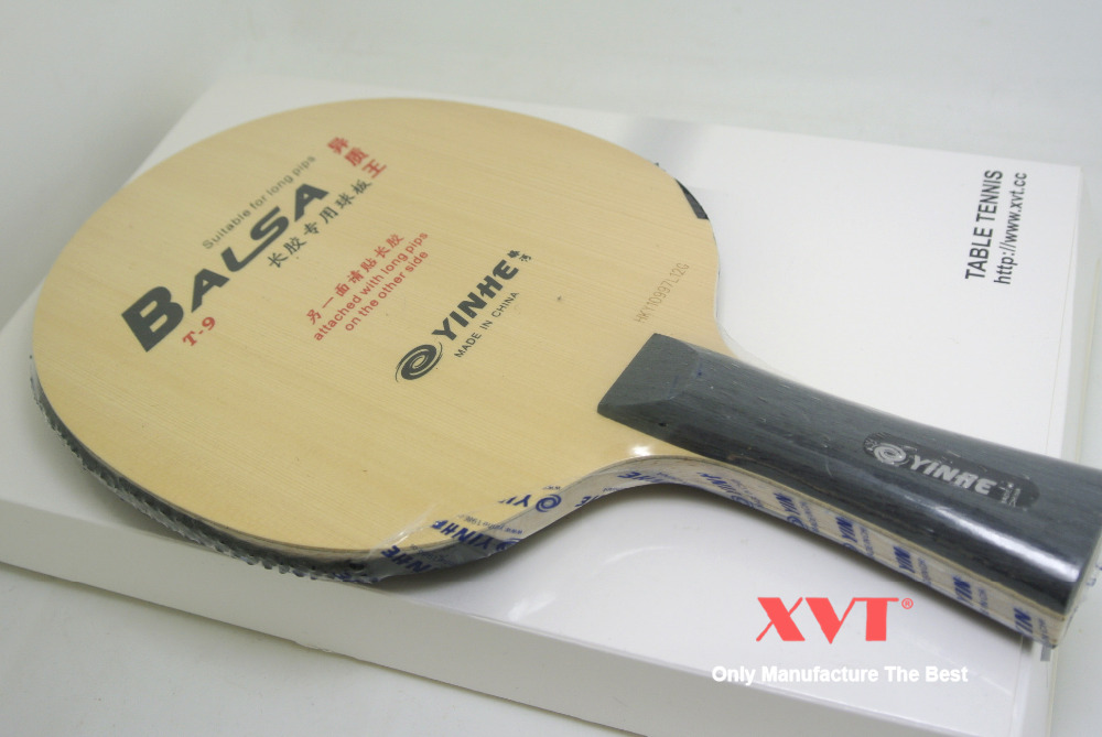 Orignal  YINHE  T9 Variant King  Balsa Carbon  With Long Rubber  table tenis blade/ ping pong blade   Free Shipping-in Table Tennis Rackets from Sports & Entertainment    1