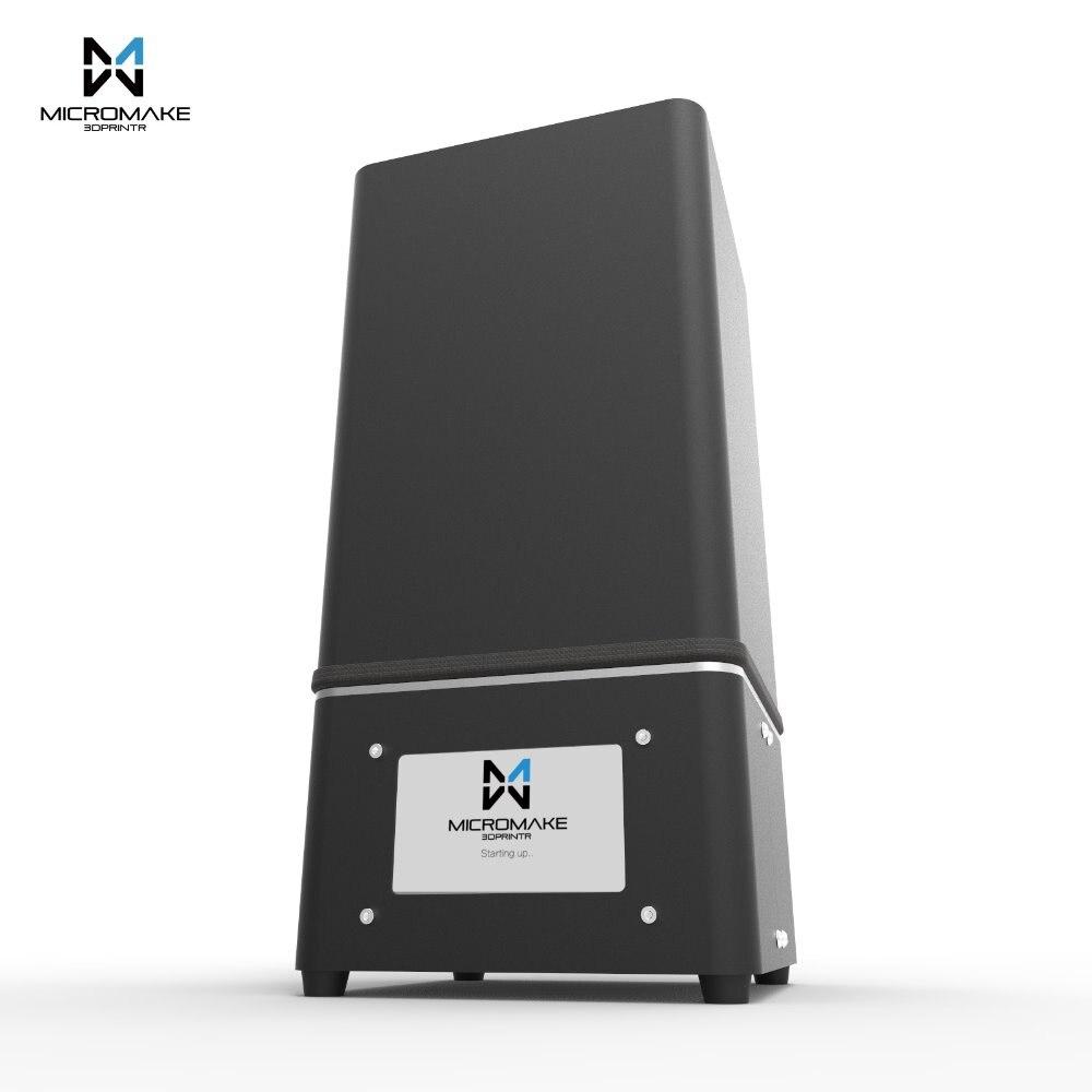 Micromake новое обновление L2 2 К Разрешение УФ смолы 3D-принтеры SLA/DLP 3D-принтеры для лечения с Сенсорный экран высокая точность
