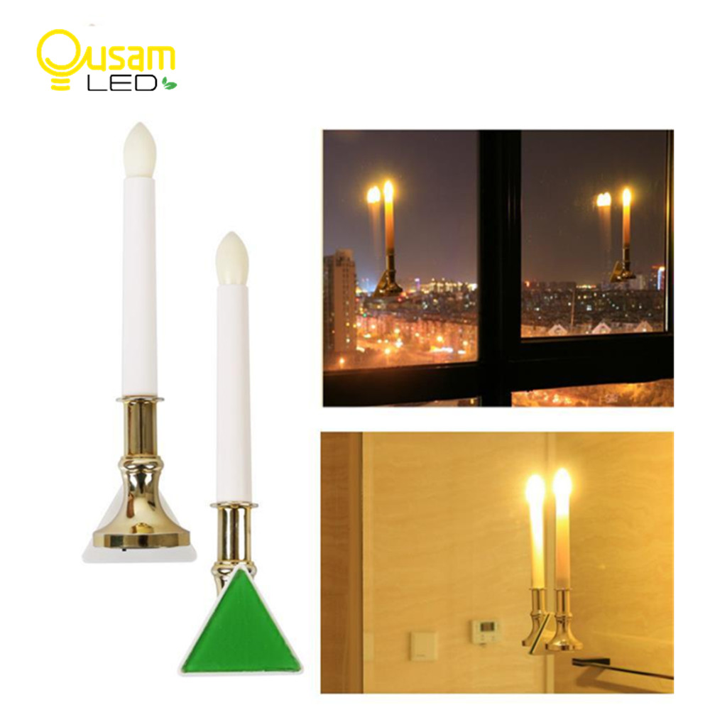 LED Electronic Candle Light With Sensor Bougie Lamp Flickering USB Charging For Wedding Christmas Decoration 2PCS/lot