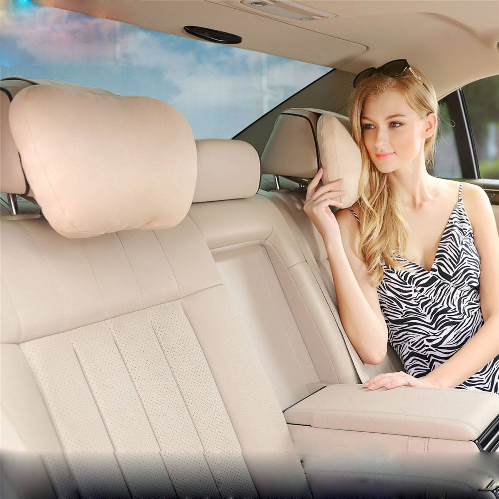 Maybach Design S Class Ultra Soft Natrual Car Headrest Neck Seat Cushion Covers For Mercedes-Benz BMW Audi Toyota Honda