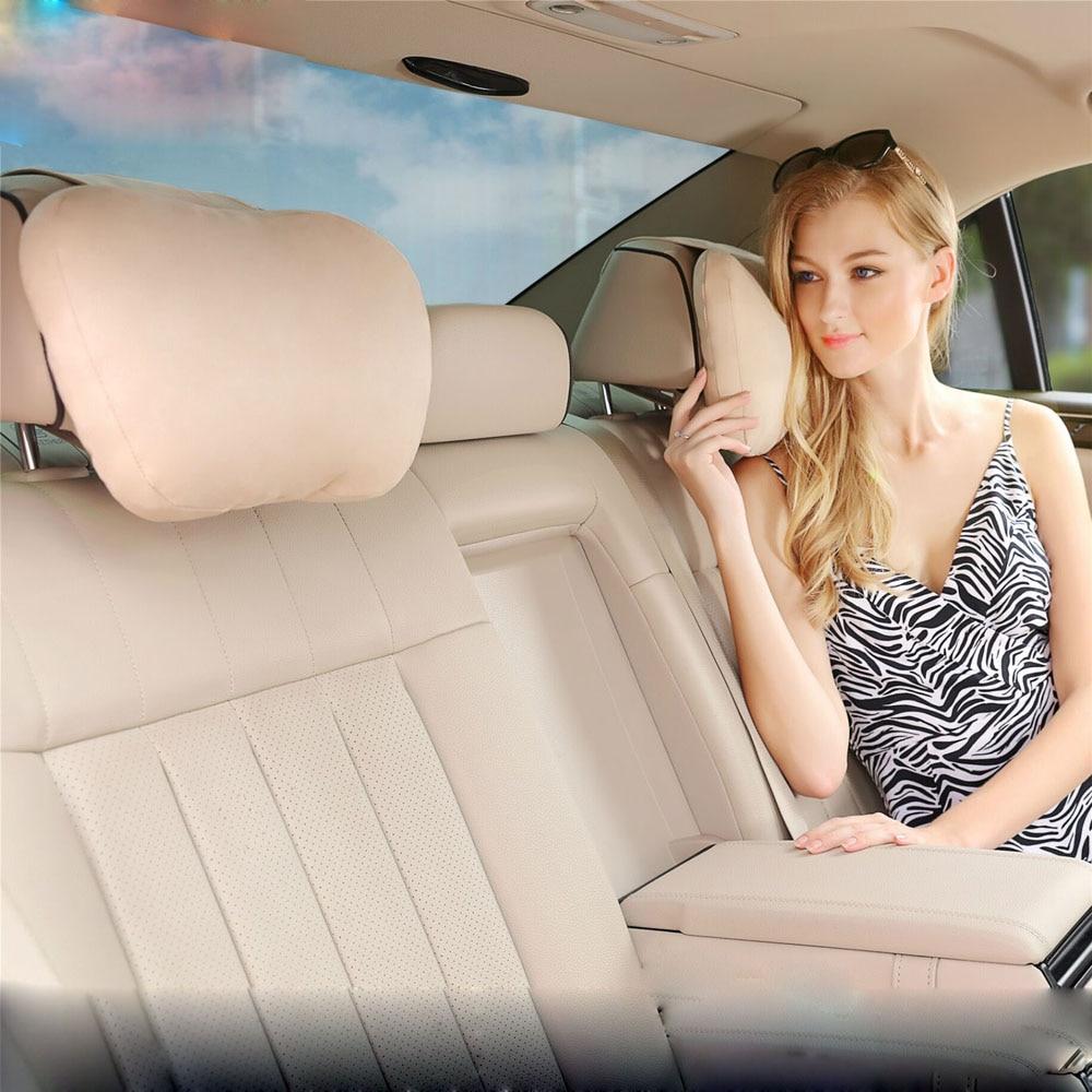 Maybach Design S Class Ultra Soft Natrual Car Headrest Neck Seat Cushion Covers For Mercedes-Benz BMW Audi Toyota Honda