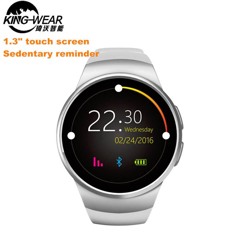 цена на New KingWear KW18 Bluetooth Smart Watch Phone Full Screen Support SIM TF Card Smartwatch Heart Rate for apple IOS huawei Android