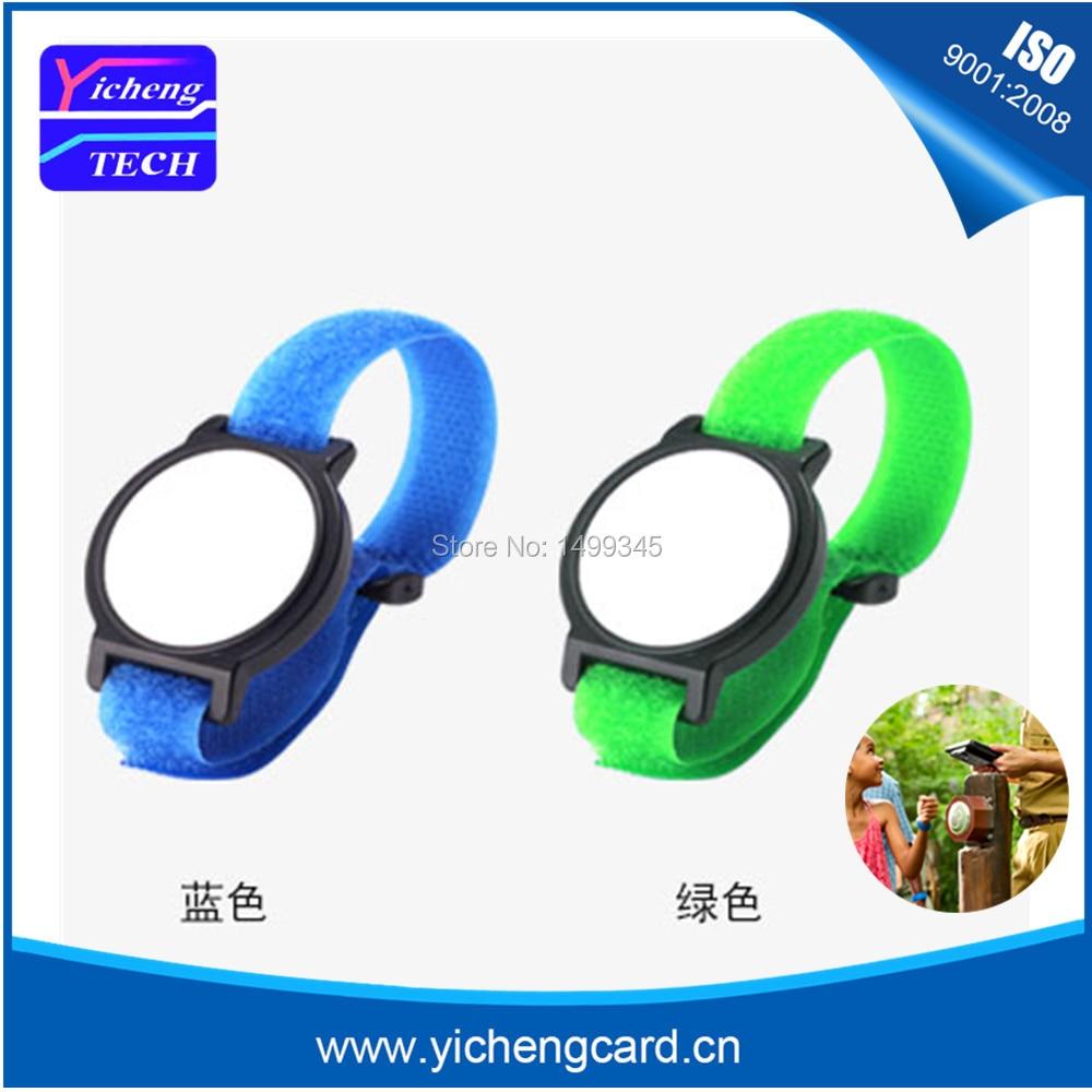 100pcs 13.56Mhz  MF 1K S50 NFC Bracelet RFID Wristband Chinese Magic Card Back Door Rewritable S50 Card чехол k s kids для k magic