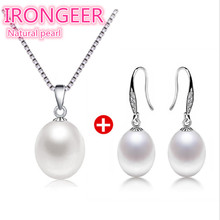 hot deal buy free shipping real natural freshwater pearl set women bridal wedding 925 sterling silver fashion jewelry sets for women