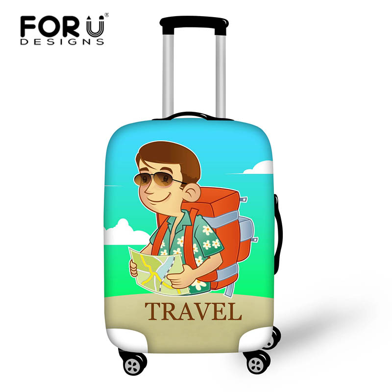 FORUDESIGNS Elastic Luggage Protective Cover For 18-28 Inch Trolley Suitcase Protect Dust Bag Scratch Case Travel Accessories