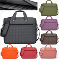 14 15 inch WaterProof Shockproof Extendable Nylon Plaid Notebook Laptop Bags Case sleeve Messenger Shoulder for Man Women