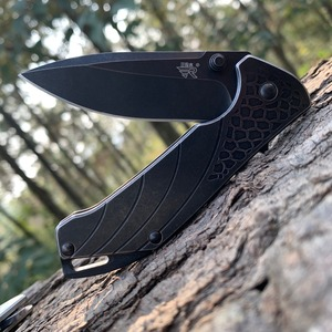 Image 2 - Sanremu 7089 LUY 접는 나이프 12C27 블레이드 스테인레스 스틸 핸들 야외 캠핑 사냥 생존 절단 EDC 포켓 나이프