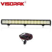 "VISORAK 7D 28 ""300 w Chips de LED CREE Luz Bar Combo Cruz DRL Offroad LED Bar Para 4WD 4×4 Volkswage Ford Jeep GMC Truck SUV ATV"