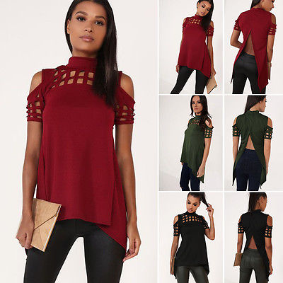 Women Loose shirt Fashion Blouse Summer Casual Short Sleeve Blouse Tops Casual femme blause