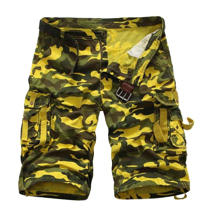 Cargo-Shorts Jogger Military Camouf Cotton Summer Male Casual Men