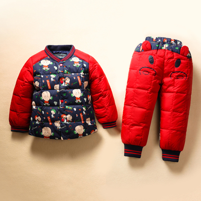 Hot Sell 2015 Winter Baby Boys Clother Suits Children thick Jacket Parka Set Girls  winter snowsuit Warm Coat+pants Suit Sets children sets girls winter sweater coat