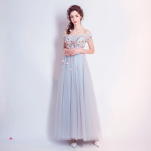 Angel Wedding Dress Marriage Evening Bride Party Prom Bridal Gown Vestido De Noiva 2017 Fairies, trees, mist, blue flowers 0157