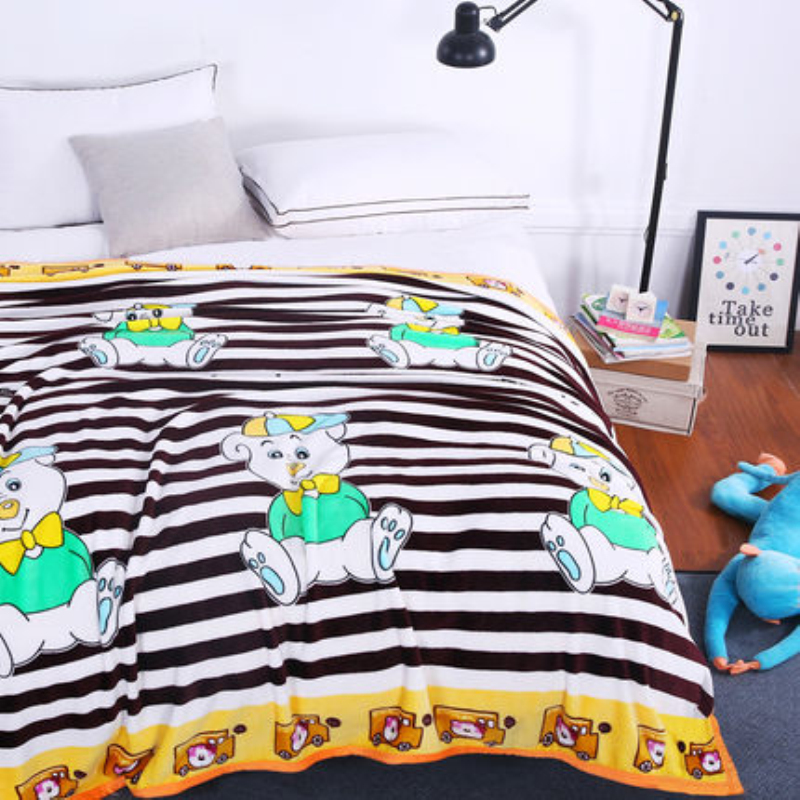 LOSICOE-14 Plaid Super Soft Warm Coral Fleece Blanket Thick Flannel Blankets Sheets Towels Sofa Bed Textile 150X200 CM