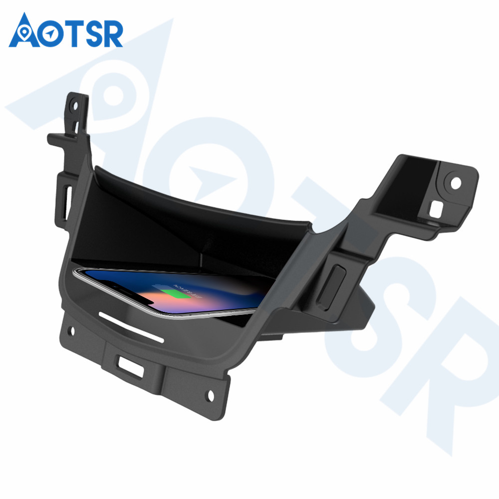Aotsr chargeur de voiture sans fil pour Cadillac XT5 2017-2019 Intelligent infrarouge rapide sans fil voiture de charge pour téléphone/Sumsang/Nokia/LG