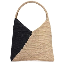 Portable Straw Bag Ladies Handmade Straw Bag Simple Seaside Holiday Shoulder Bag