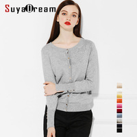 Women Basic Cardigans Long Sleeve Button Closure Sweater O Neck Viscose Nylon Knitted Sueter 10 COLORS