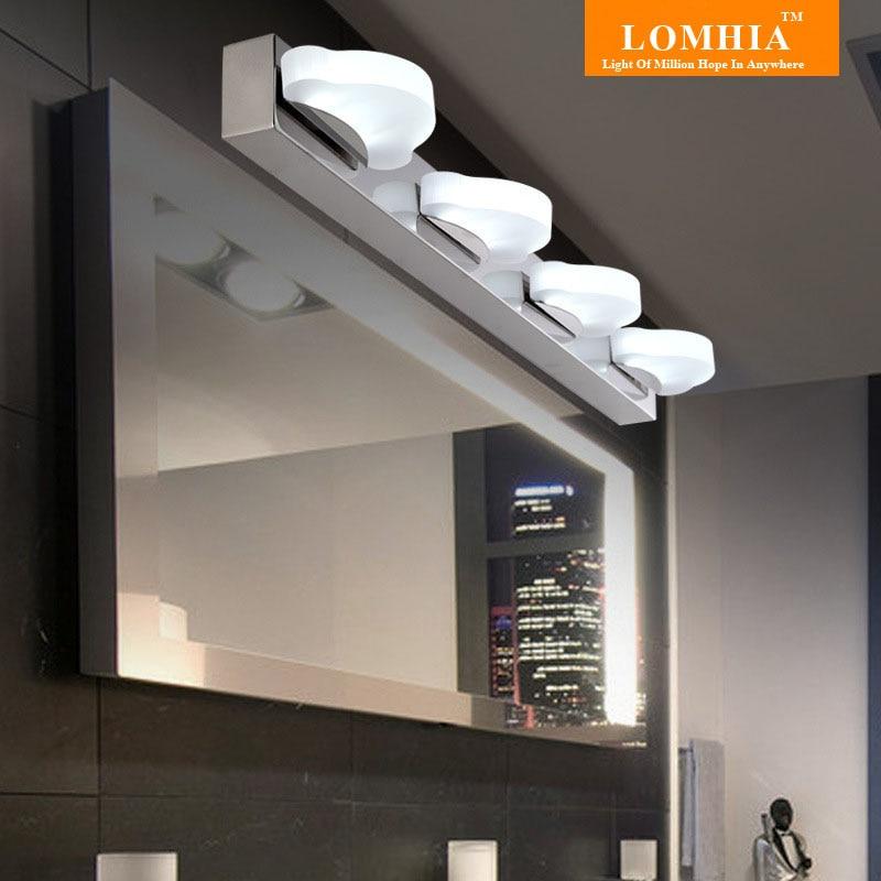 acrlico pantalla de acero inoxidable espejo de bao espejo con luz led decoracin de la lmpara