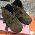 CCTWINS NIÑOS otoño invierno niños moda fringe botas niñas botas de marca para niños bebé botas niños botas de gamuza de cuero genuino