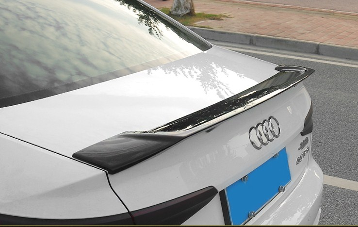 ABS Plastic Wing with a lacquer  Primer Color Rear Spoiler For Audi A4L  Spoiler a4  spoiler 2017 2018 TRD style
