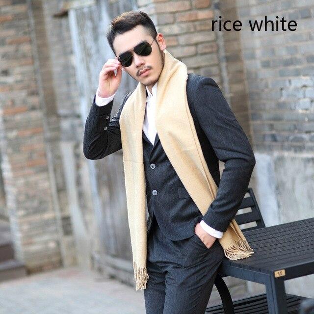 2017 Новое прибытие осень зима шарфы 7 простой сплошной цвет теплый мягкий кисточкой шарф шаль хлопок повседневная корейской версии шарф мужчины