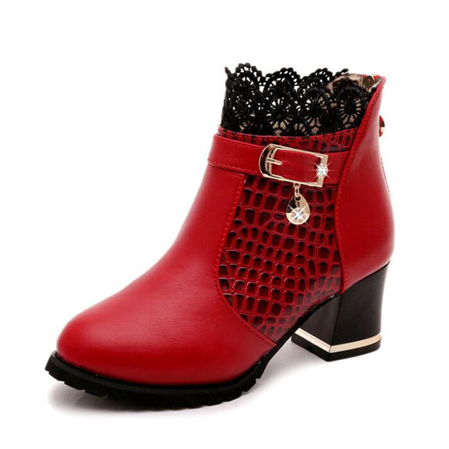 HEE GRAND Zip Women Boots Thick Heel Platform Shoes Buckle Autumn Winter Sexy Boots For Women Riding Ankle Boots XWX4963