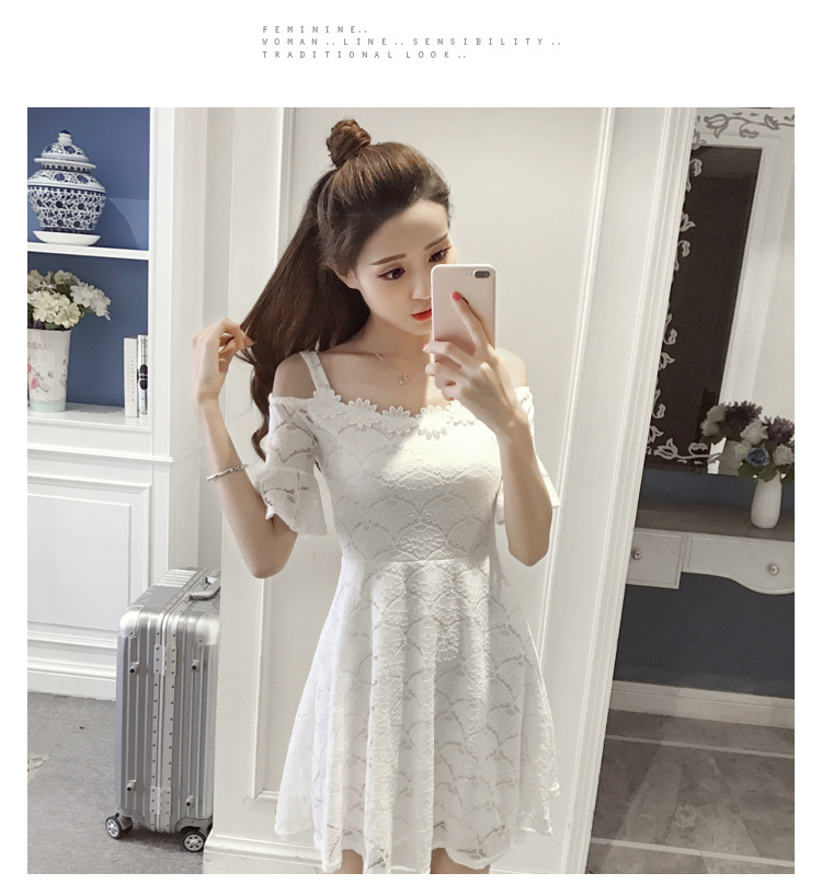 18 New fashion women summer lace sexy dress white Korean style clothes for womens vestido de festa mini white clothings 11