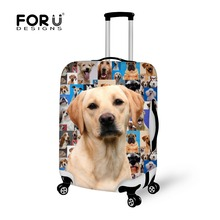 Nouvelle marque 3D animal élastique voyage bagages couverture stretch protéger valise couverture pour 18-30 pouce cas golden retriever la poussière couvre