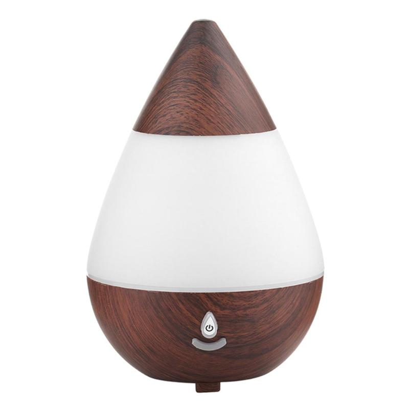 235Ml Ultrasonic Mini Aroma Humidifier USB 16 Color Lights Change Essential Oil Diffuser Bluetooth Wooden Humidifier For Home
