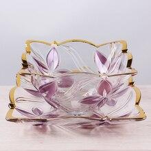 2016 Новый шаблон гостиной вазу с фруктами пластины Творческий Европейской моды стеклянные фрукты