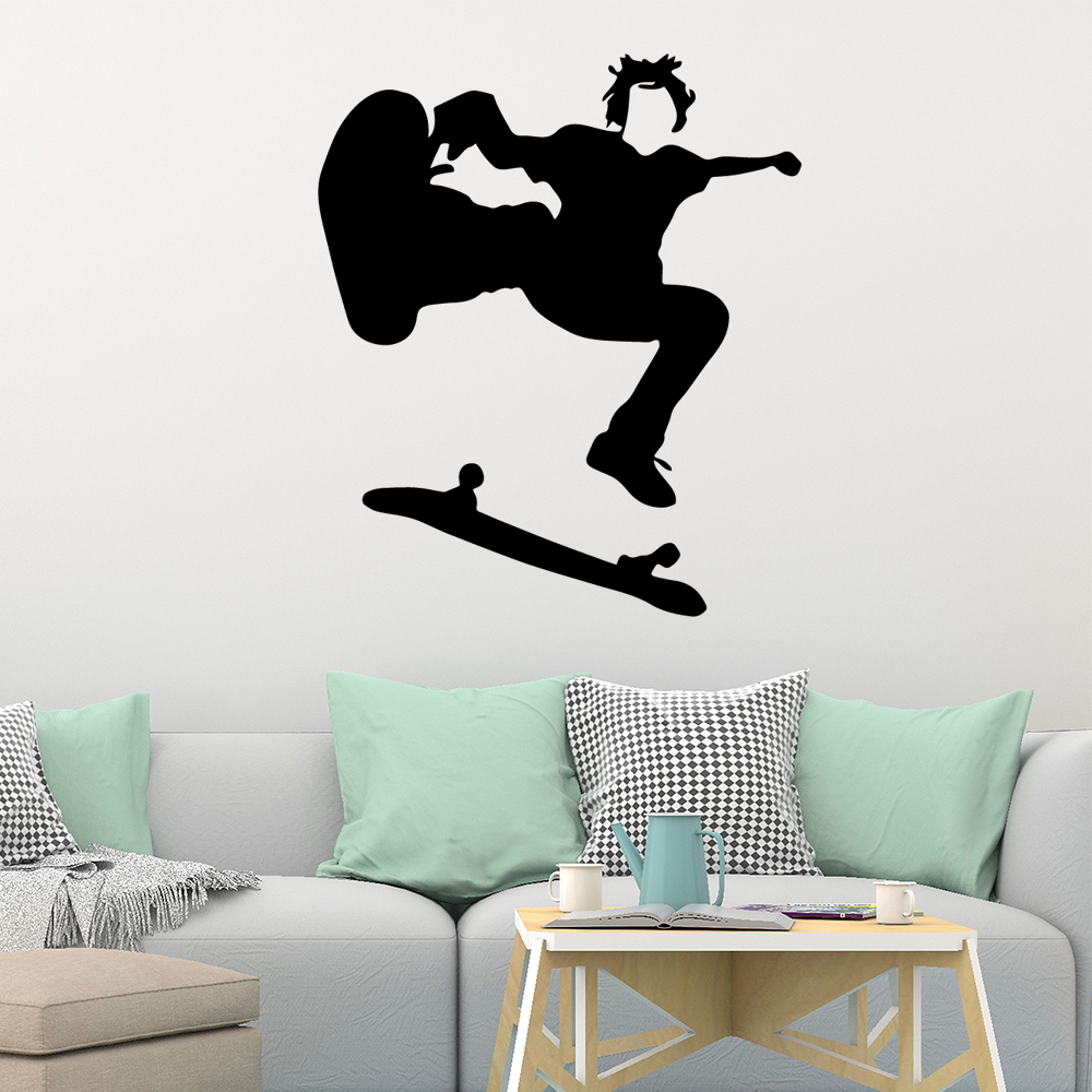 Skate Boarder Peel and Stick Decal Wall Mural Skateboarder  BELOW WHOLESALE