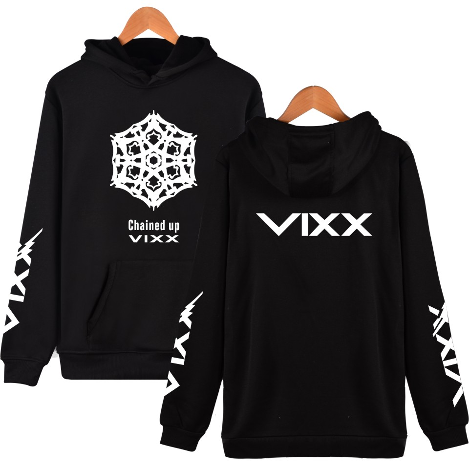 KPOP VIXX Hoodies Women Fans Support Pullover Sweatshirt Harajuku Hip Hop Fleece Member Name Women's Tracksuit 2017