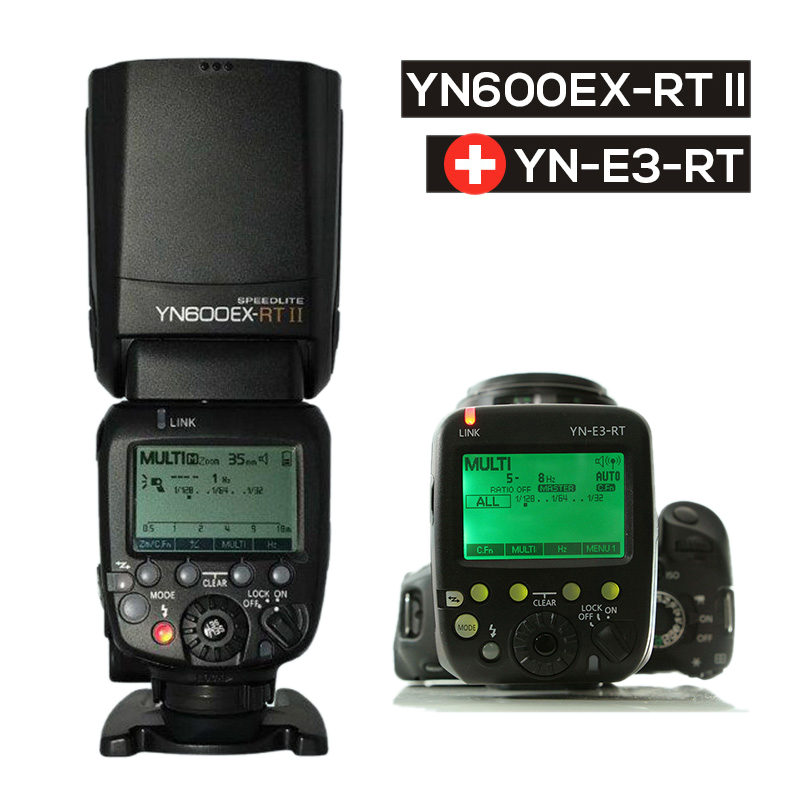 Ulanzi Updated YONGNUO YN600EX-RT II Auto TTL HSS Flash Speedlite +YN-E3-RT Controller for Canon 5D3 5D2 7D Mark II 6D 70D 60D
