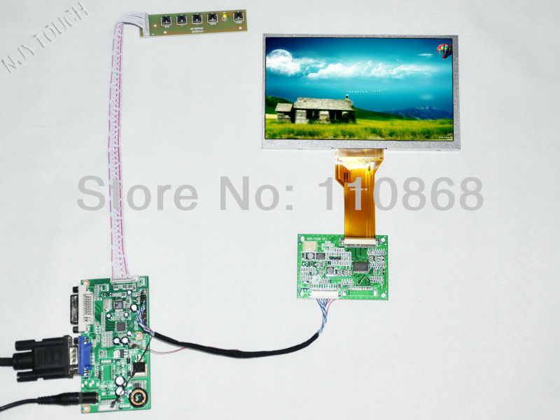 ФОТО LCD display 7 inch TFT INNOLUX AT070TN92 50 Pin LCD Screen Panel DVI Controller TCON Board LVDS