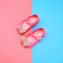 2019 Hole Summer Jelly Childrens Shoes Hot Sale girl bowknot sandal for gift