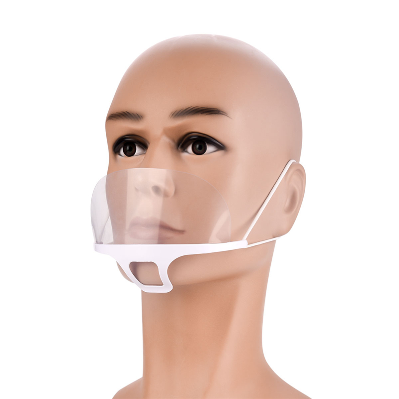 10Pcs Transparent Reusable Catering Mask Mouth muffle Chef ...