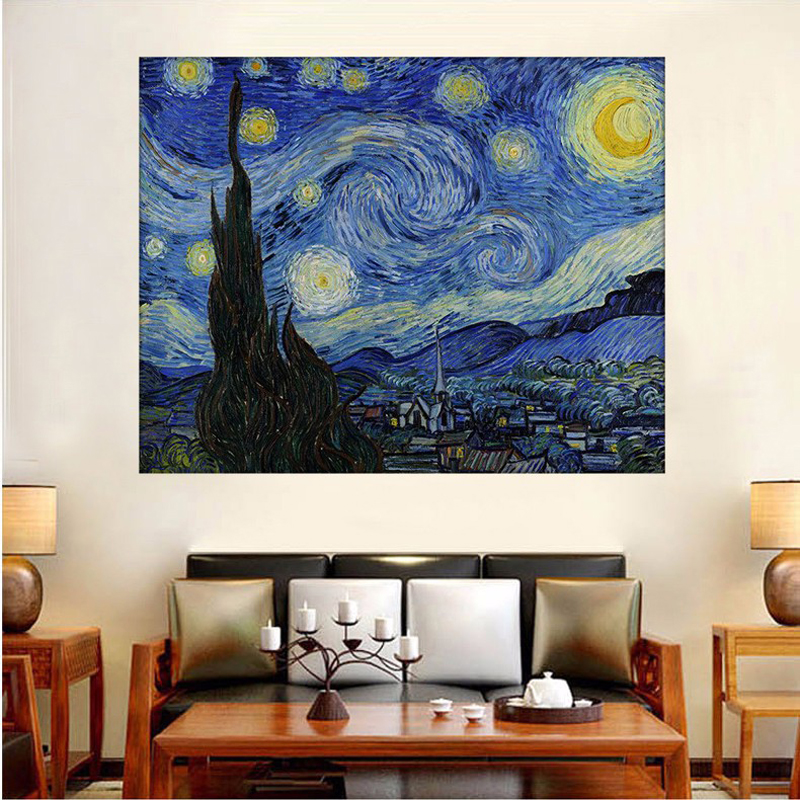 Full Diamond Embroidery The World Famous Starry Night By Van Gogh Diy Diamond Painting A Craft Decorated Living Room A Good Gift ...