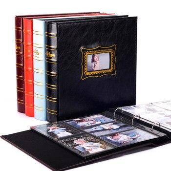 Large 6 inch 4D leather photo album album interstitial photo album this plastic 6 inch 600 large capacity children's album