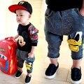 Niños niñas ropa pantalones vaqueros de los bebés de algodón de dibujos animados pantalones del bebé todder niños pantalones de los niños pantalones harem ropa de otoño