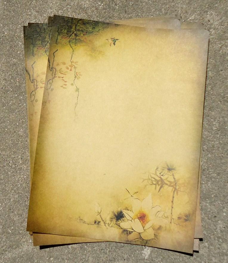 8 Pcs Vintage Letter Paper Stationery Writing Paper Letter Set School Office Supplies