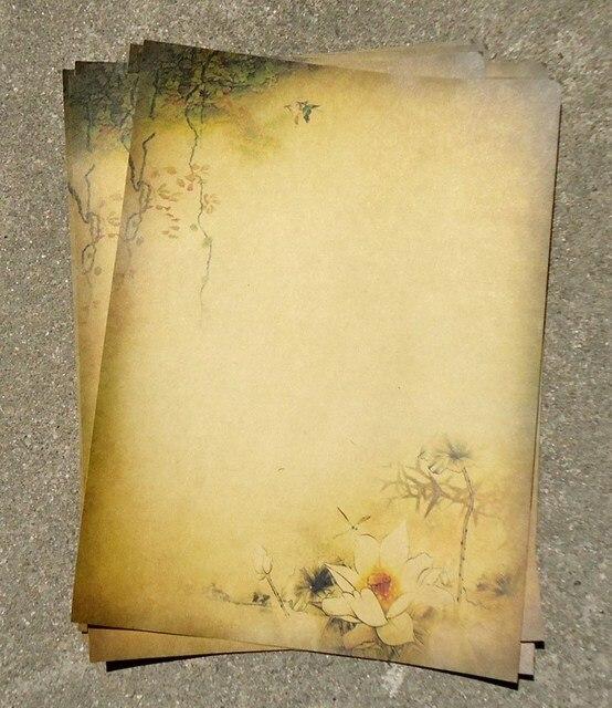 8 piezas Vintage carta papel papelería escritura papel carta Set escuela Oficina suministros