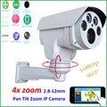 Owlcat hi3516c + sony imx222 hd 1080 p 4x zoom automático 2.8-12mm varifocal lente de Seguridad CCTV PTZ Al Aire Libre Cámara ip IR cut Onvif RTSP