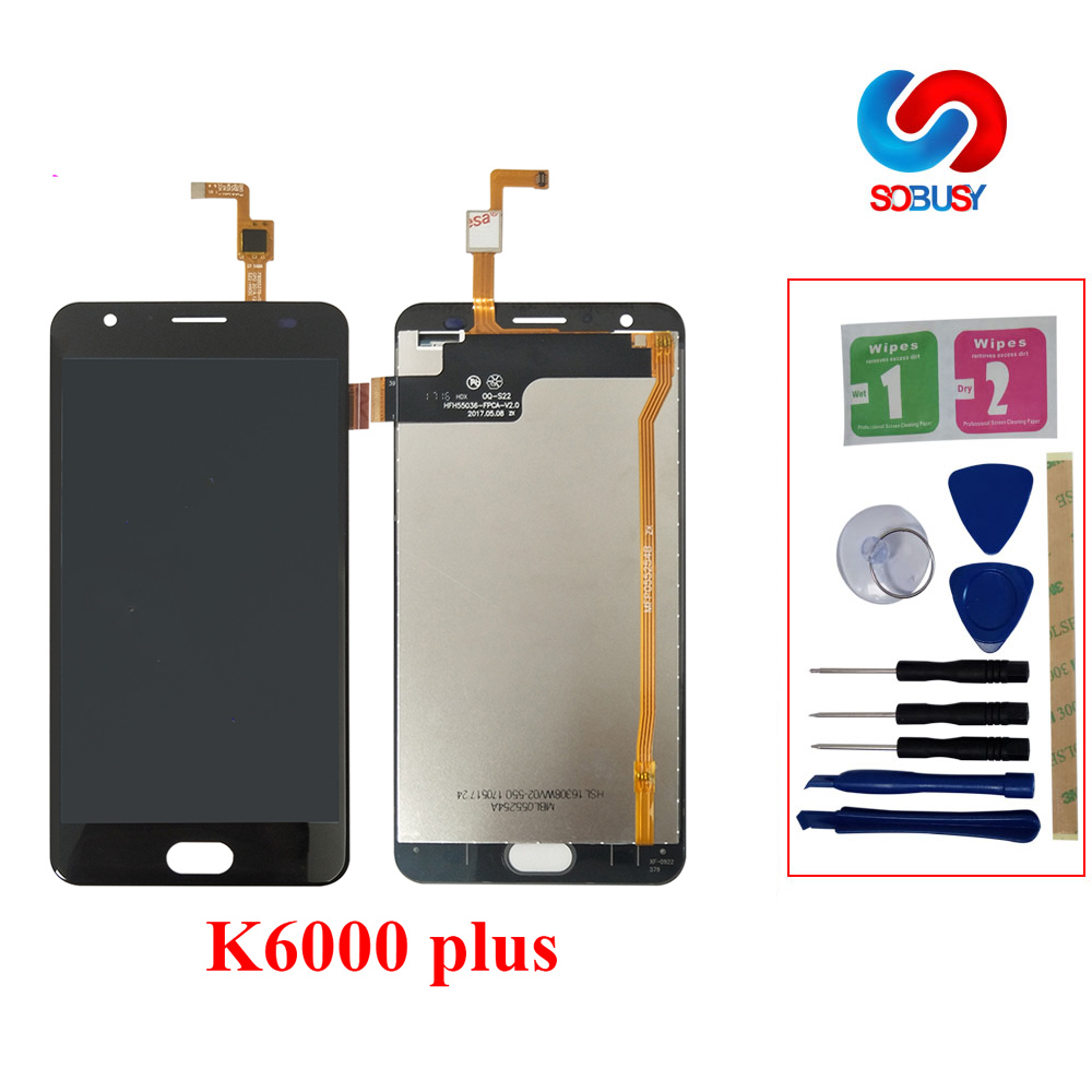 5.5 LCD Pour Oukitel K6000 Plus pantalla LCD Affichage K6000 Plus Écran Tactile Digitizer Assemblée Pièces De Rechange + Adhésif